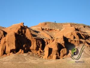 Flaming cliffs - dinosaur native land - Bayanzag
