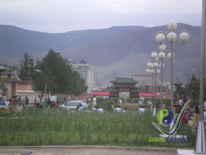 Bogd Khan Mountain in front of Ulaanbaatar