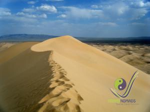 180 km long Khongor Sand Dunes