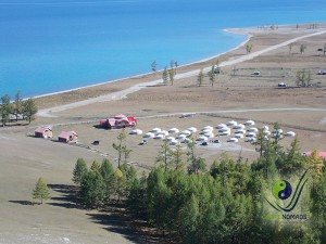 Tourist ger camp by the Khuvsgul Lake