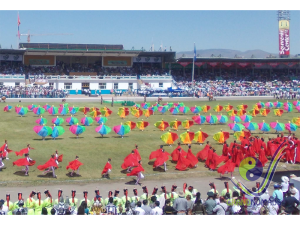 Colorful opening ceremony of Naadam festival