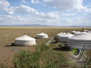 Ger camp in the Gobi