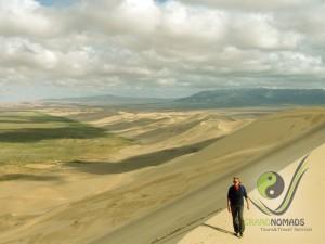 Walking on 180 km long sand dunes