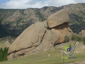 Turtle Rock formation in Terelj National Park