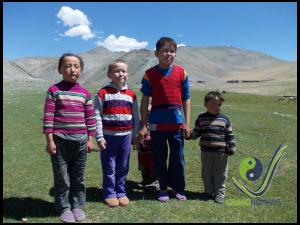 Cute Kazakh children