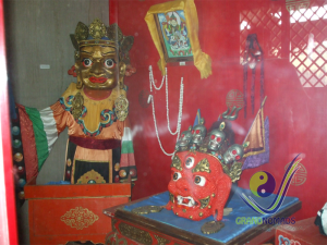 Inside temple museum