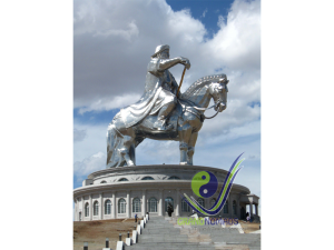 Giant Genghis Statue
