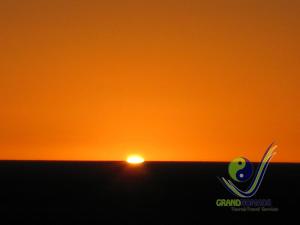 Gobi orange sunset