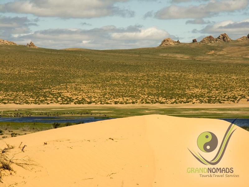 Elsen Tasarkhai Sand Dunes, camel riding.